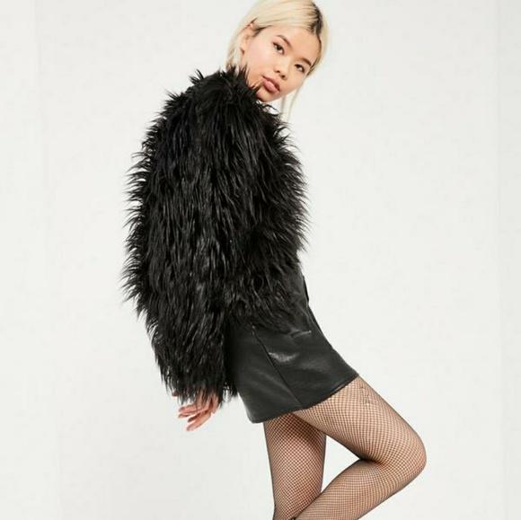 7f6a89facb951 Missguided Jackets & Coats | Black Fur Jacket Sz Small Nwot | Poshmark